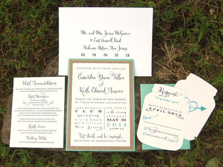 Tmx 1453162130718 Burlap And Mason Jar Flemington wedding invitation