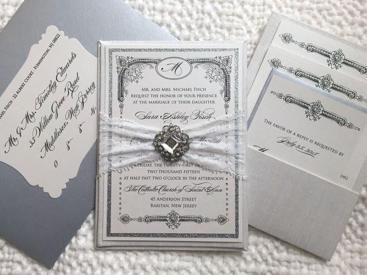 Tmx 1453162261050 Chris  Sara Panera Flemington wedding invitation