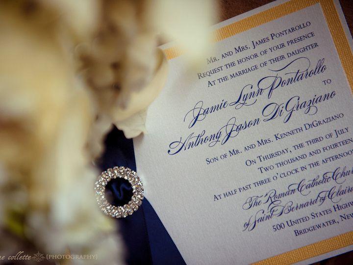 Tmx 1453162341394 Jamie Yellow Invite Flemington wedding invitation