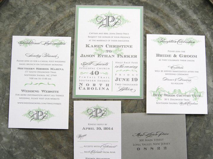 Tmx 1453162421010 Obx Green Flemington wedding invitation