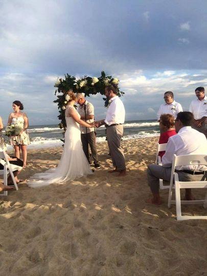 Decorative Wedding Arch on the Beach