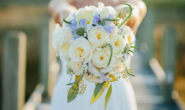 Bridal Bouquet for a wedding in Hatteras, NC Outer Banks