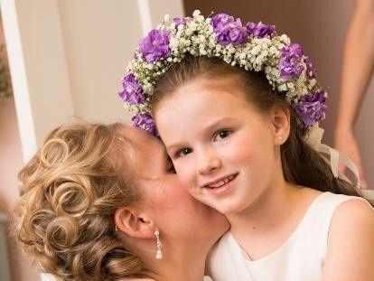 Spring Wedding Flowergirl headpiece - beautiful!