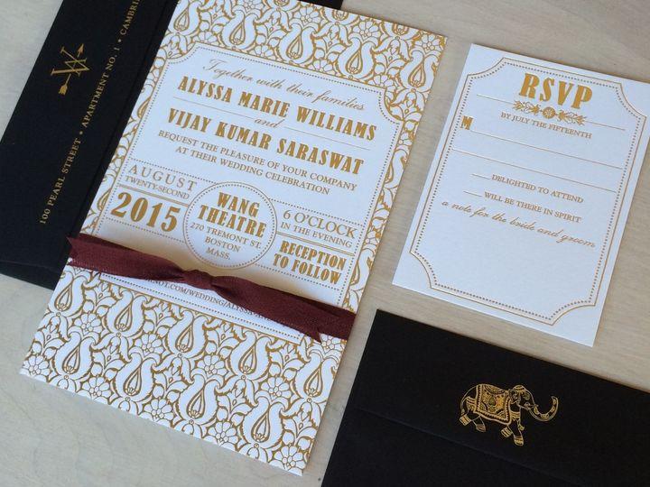 Tmx Alyssa And Vijay 51 930604 1570028328 Quincy, MA wedding invitation