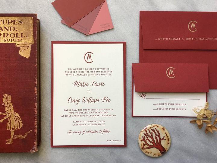 Tmx Marie And Craig 51 930604 1570028366 Quincy, MA wedding invitation