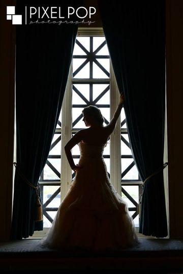Bridal shot taken in Christman Hall
