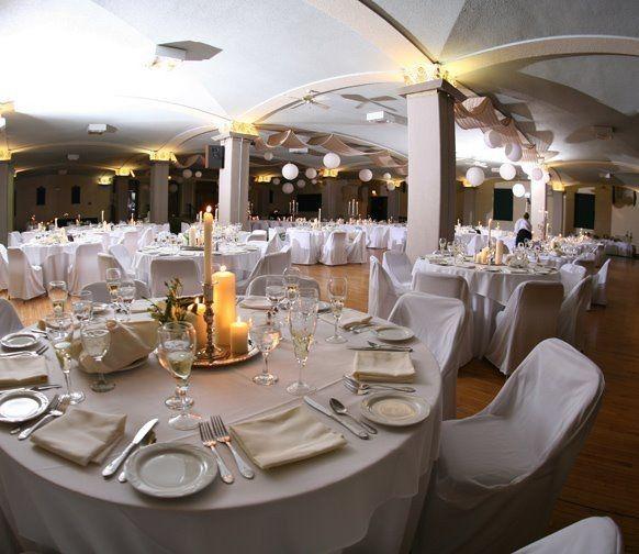 Reception set in Ballroom