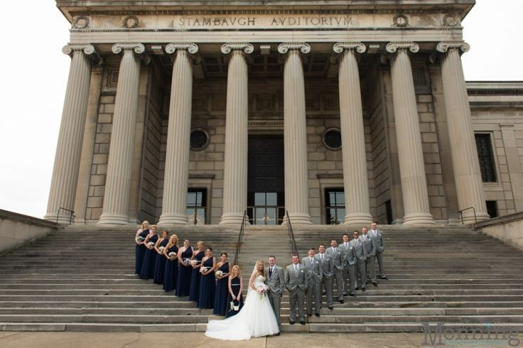 Couple along with Bridesmaids and groomsmen