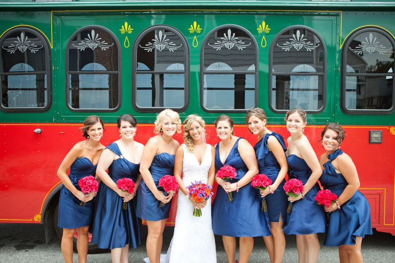 Photo in front of a tram
