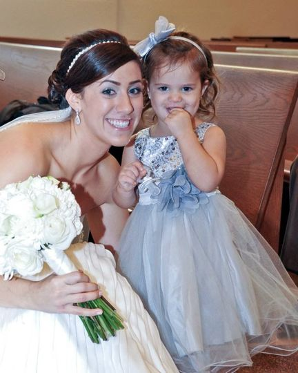 Cute kid with the bride