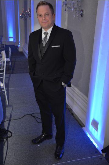 Jay Roy ready to rock the Schwab wedding reception at The Ballroom at Ellis Preserve