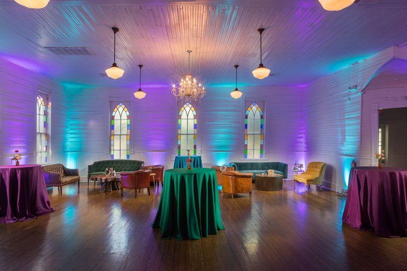 Jewel-toned lounge