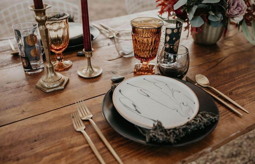 Boho inspired table setting