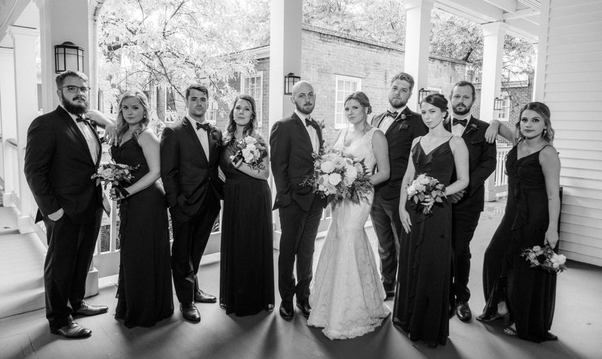bridal party black and white 51 983604 161591867650404