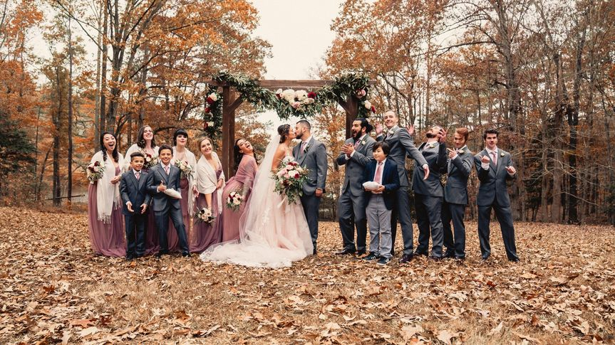 Fall outdoor wedding Richmond