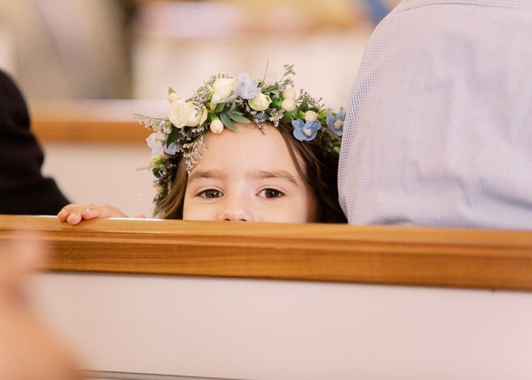 Flower girl-peek-a-boo