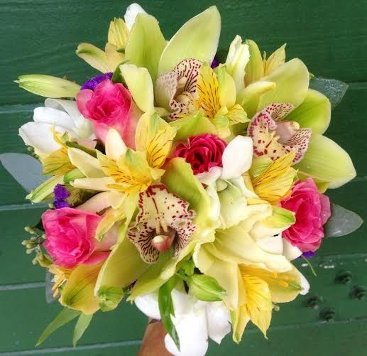 tropical wedding bouquet 2