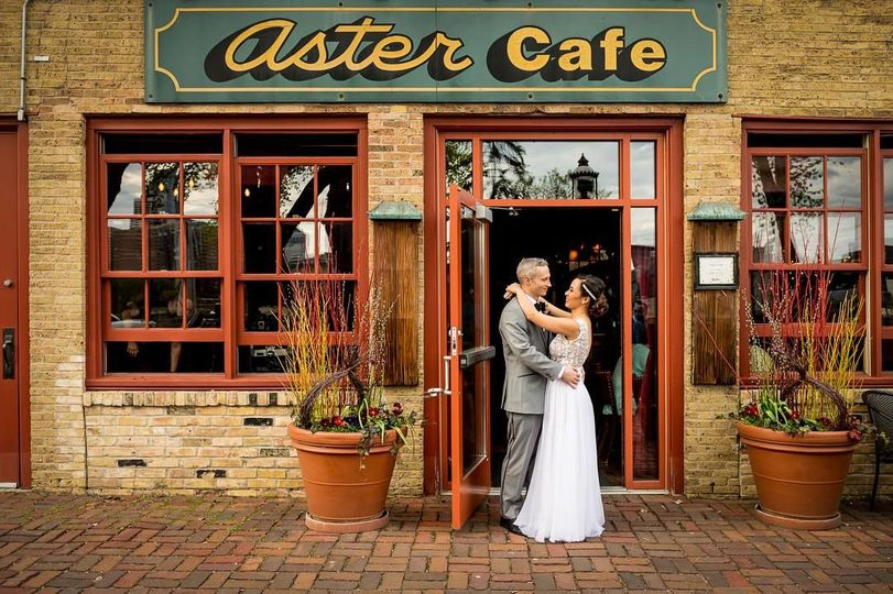 Outside Aster Cafe
