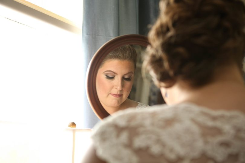 Bride's reflection