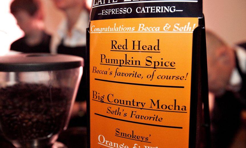 mccall wedding menu