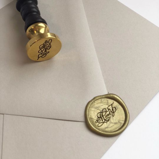 Custom monogram wax seal