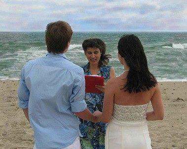 Intimate wedding ceremony on Miami Beach.