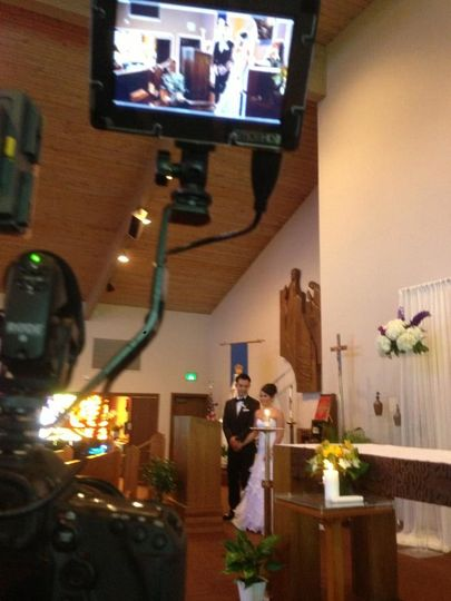 Filming the couple