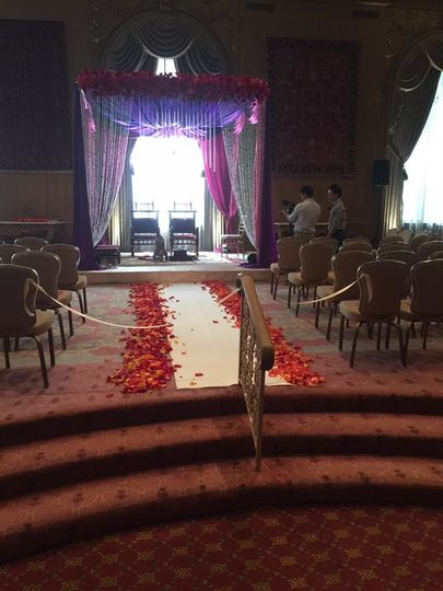 Filming the wedding ceremony space