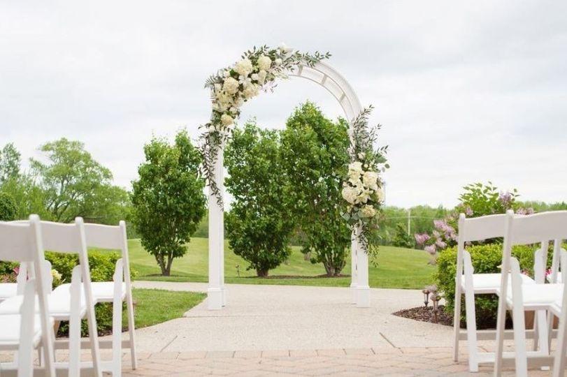 The ceremony arbor
