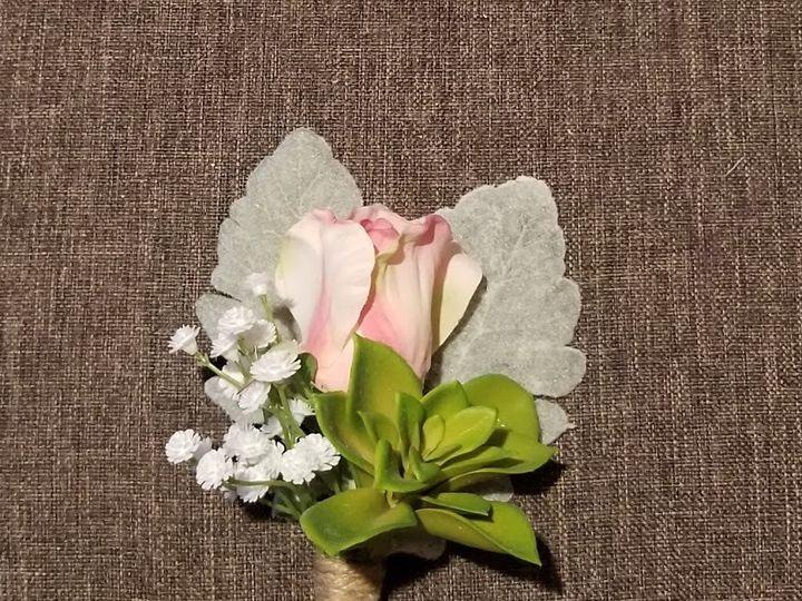 Tmx Pink Rose Succulent And Babys Breath Grooms Boutonniere 51 949604 157653500996323 Kenosha, WI wedding florist