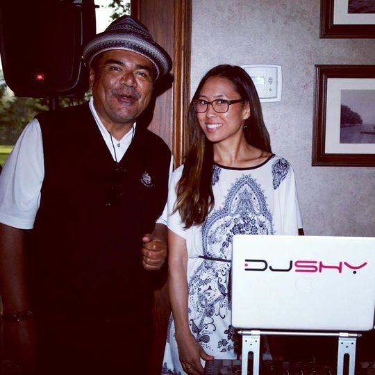 DJ Shy spinning for Comedian/Actor George Lopez