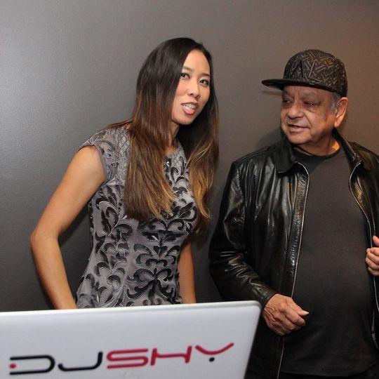 "DJ Shy spinning for Richard ""Cheech"" Marin"