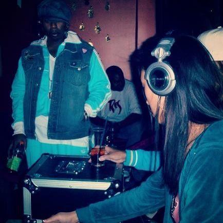 DJ Shy spins for Rapper Missy Elliot