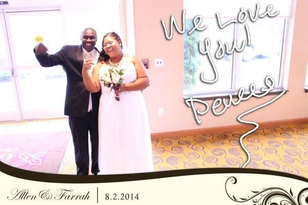 farrah and groom