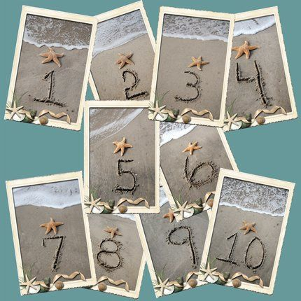 Seaside Table Card Numbers