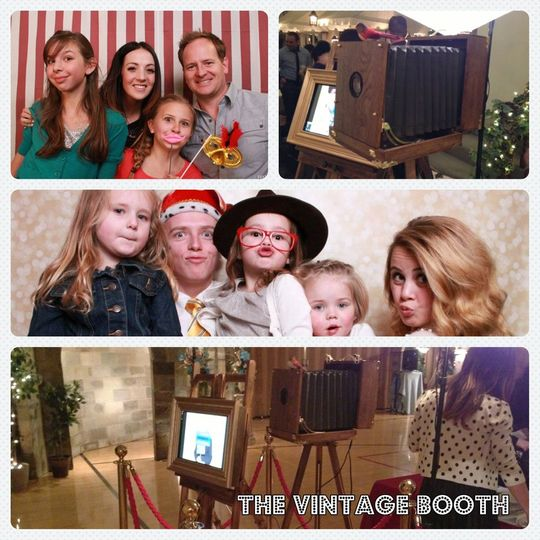 """The Vintage Booth isn't technically a """"booth"""", it's more of an open-style photography experience...."""