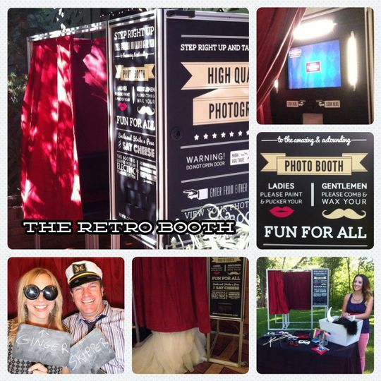 The Retro Booth embraces the charm of the carnival midways of the 1930's.
