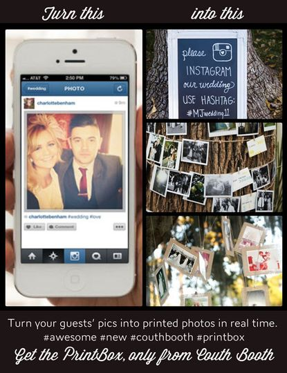 Let your guests be the photographers at your wedding using Instagram or Twitter. As they take...