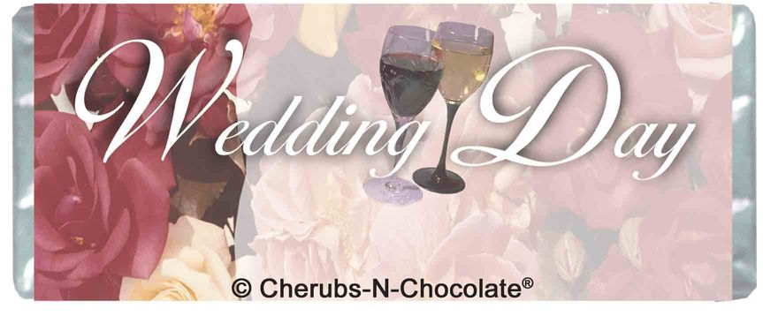 Floral Wedding Personalized Wedding Wrapper  Front Image
