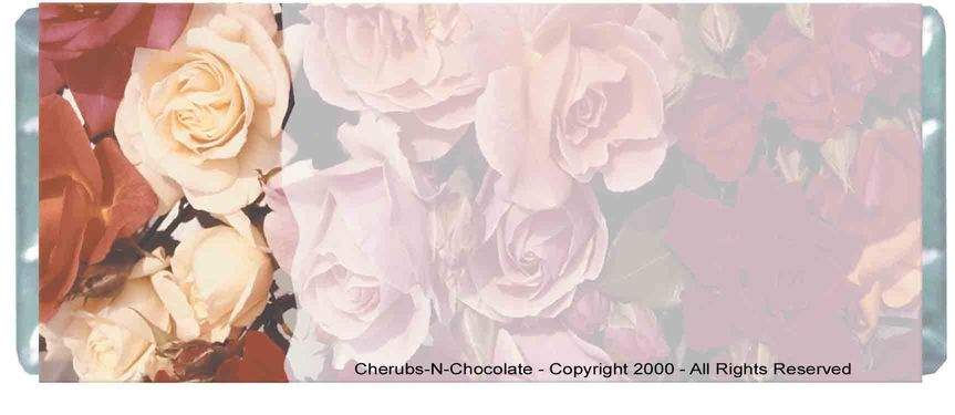 Floral Wedding Personalized Wedding Wrapper  Back Image