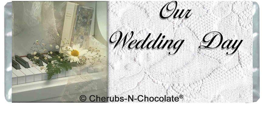 White Wedding Personalized Wedding Wrapper  Front Image