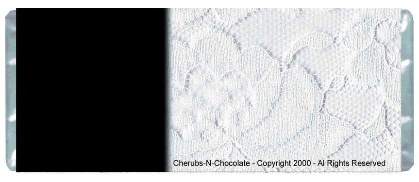 White Wedding Personalized Wedding Wrapper  Back Image