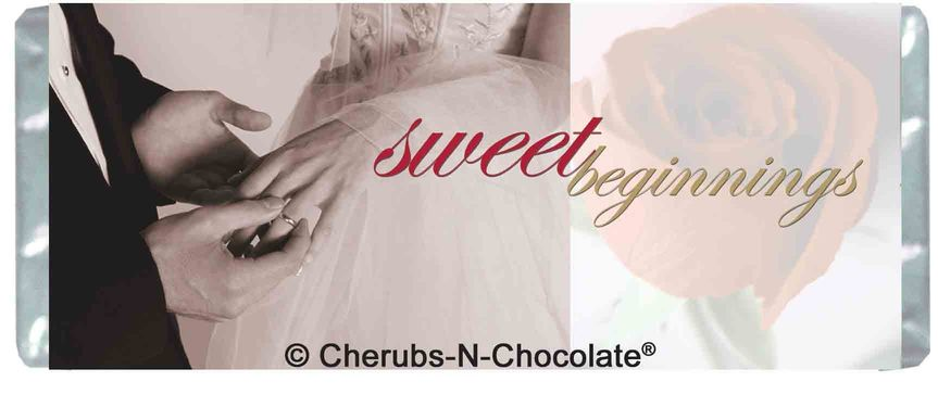 Sweet Beginnings Personalized Wedding Wrapper  Front Image