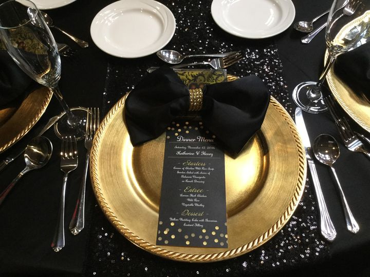 800x800 1501911532804 black and gold tablesetting & Savoury Chic Event Planning \u0026 Design - Planning - Oak Brook IL ...