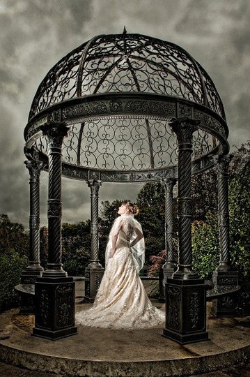 Bossinger Photography ~ Bride in Gazebo