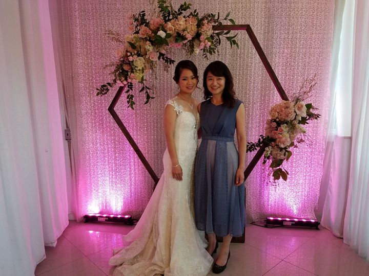 Photo with a beautiful bride