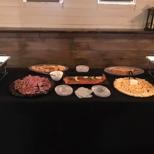 Buffet table setup