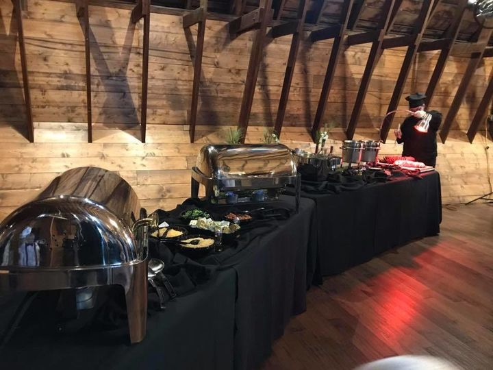 Indoor buffet setup
