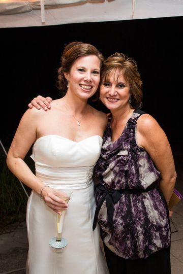 Wedding Planner Kathy with one of her first brides.