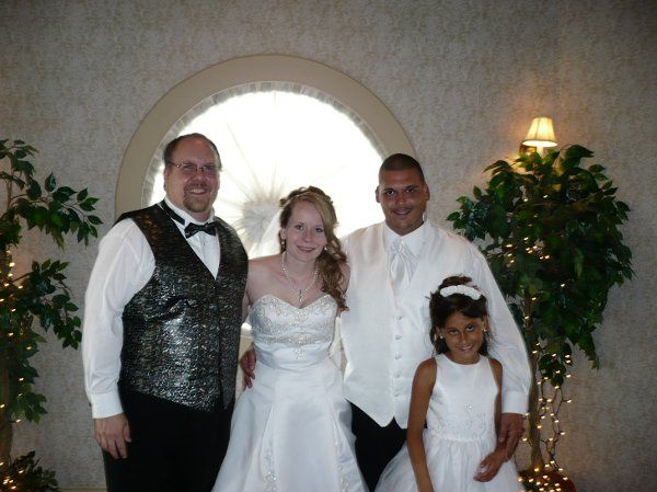 Jen and Rick with Daughter Hailey - It is always nice to include any children in the wedding...
